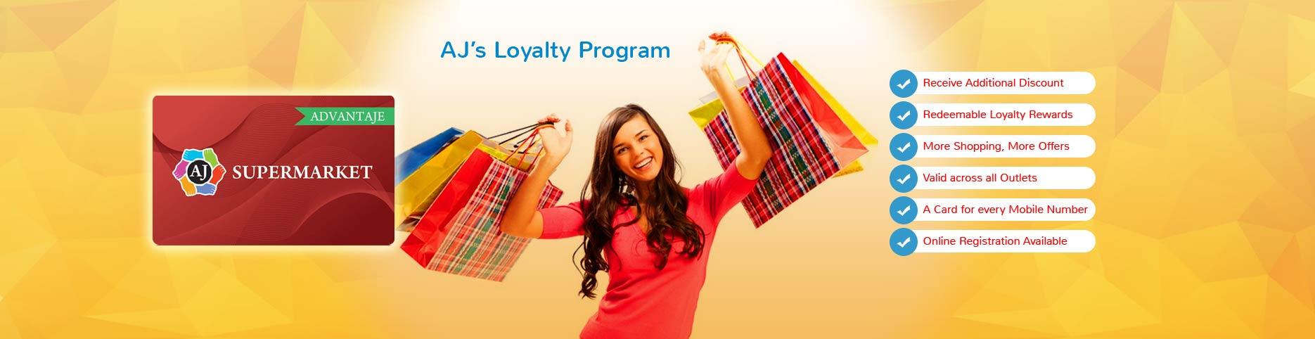 AJ's loyalty programs